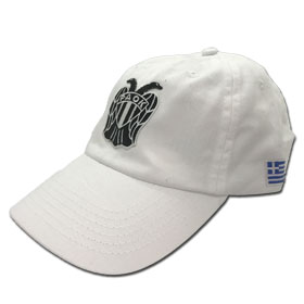 PAOK Thessaloniki Adjustable Baseball Cap. In White