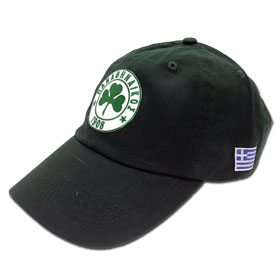 Panathinaikos Adjustable Baseball Cap. In Forrest Green