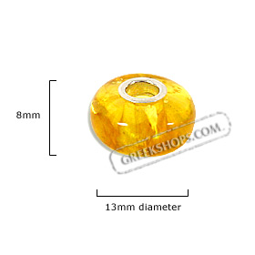 Pandora - Style Natural Amber Bead - Yellow Amber (13mm)