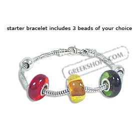 Silver Pandora - Style Starter Bracelet with 3 Natural Amber Beads