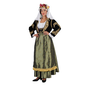 Corfu Green Costume for Women Style 641217*