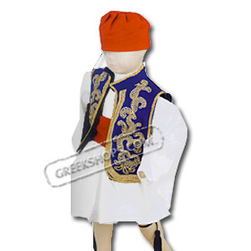 Tsolias Traditional Greek Costume for Boys Size 2-6 Style 644609