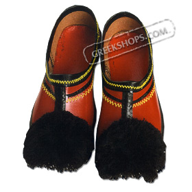 Traditional Red Tsarouchia in Adult Sizes (7-14 US / 40-48 EU)