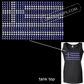 Metal Studded Tank Top - Greek Flag Style T6671
