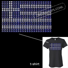 Metal Studded Tshirt - Greek Flag Style T6671