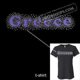 Metal Studded Tshirt - Greece Style T6683