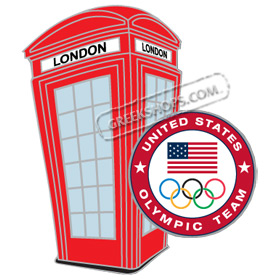 USOC London 2012 Olympic Team Phone Booth Pin
