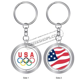 Vancouver 2010 USA Flag Spinner Keychain