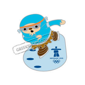 Vancouver 2010 Quatchi Speed Skating Pin