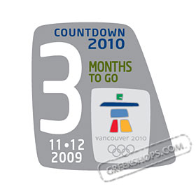Vancouver 2010 3 Months To Go Pin