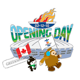 LIMITED EDITION Vancouver 2010 Mascots Opening Ceremony Pin