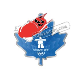 Vancouver 2010 Maple Leaf Bobsled Pin on Pin