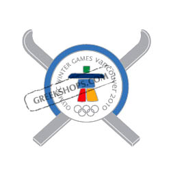 Vancouver 2010 Crossed Skis Pin