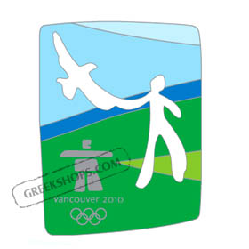 Vancouver 2010 Man & Eagle Cut-Out Pin