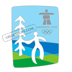 Vancouver 2010 Man & Tree Cut-Out Pin
