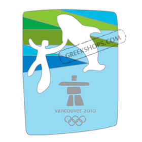 Vancouver 2010 Man & Whale Cut-Out Pin