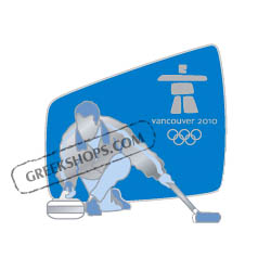 Vancouver 2010 Silhouette Curling Pin