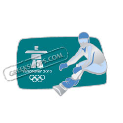 Vancouver 2010 Silhouette Snowboarding Pin