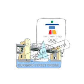 Vancouver 2010 Burrard Street Bridge Landmark Pin