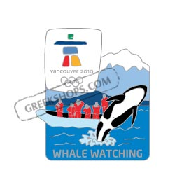 Vancouver 2010 Whale Watching Landmark Pin