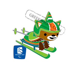Vancouver 2010 Mascot Sumi Cross Country Skiing Pin