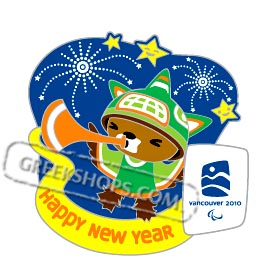 Vancouver 2010 LIMITED EDITION Happy New Year Mascot Sumi Pin