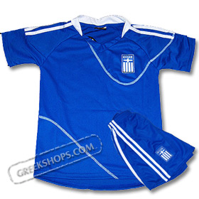 Children's Greek National Team World Cup 2010 Away Game Jersey w/ shorts Special 50% Off