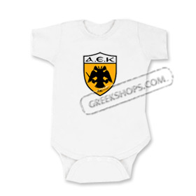 A.E.K. Greek Sports Team Romper for Babies