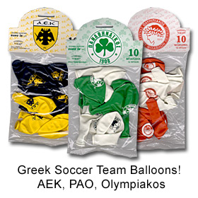 Greek Soccer Team Balloons
