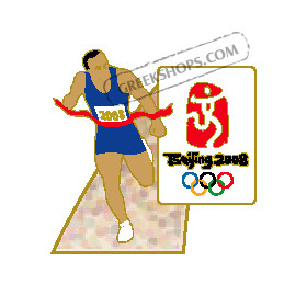 Beijing 2008 Athletics Runner Olympic Sports Pin