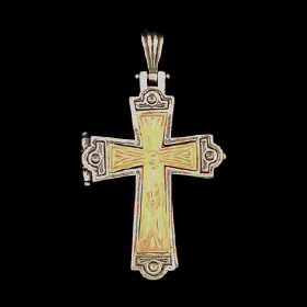Palaiologan Collection - 24k Gold Plated Sterling Silver Pendant - Traditional Byzantine Cross