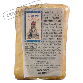 Faros Natural Traditional Greek Olive Oil Soap 200g