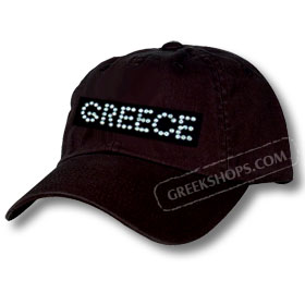 Rhinestone Greece Cap