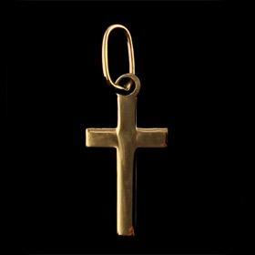 14k Gold Cross Pendant (13mm)