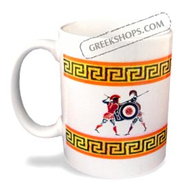 Ancient Greek Warriors Mug