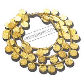 Traditional Greek Costume Coin Necklace