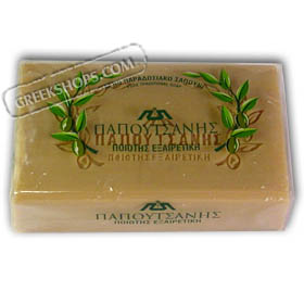 Natural Olive Oil Greek Soap - Papoutsanis 125g