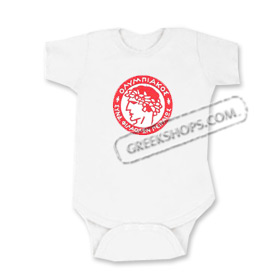 Olympiakos Greek Sports Team Romper for Babies