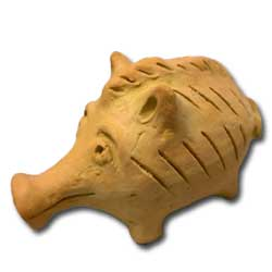 Cypriot Zoomorphic Clay Rattle Replica, 600-480 BC, Museum of Cycladic Art