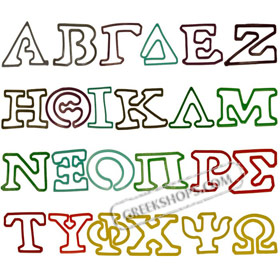 Greek Alphabet Silly Bands  (24 pieces) CLEARANCE SALE 40% OFF