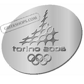 Torino 2006 Silver Raised Logo Pin