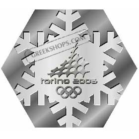 Torino 2006 Hexagon Snowflake Pin