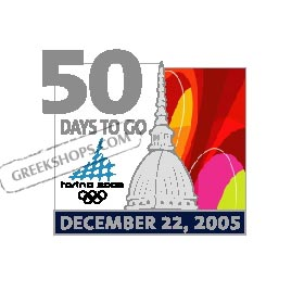 Torino 2006 50 Days To Go Pin