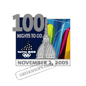 Torino 2006 100 Nights To Go Pin