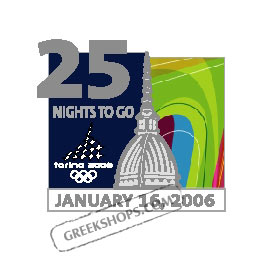 Torino 2006 25 Nights To Go Pin