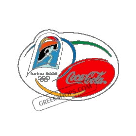 Torino 2006 Coca Cola Torch Run Logo Pin