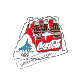 Torino 2006 Coca Cola Six Pack Pin