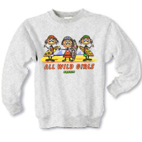 Children's All Wild Girls Sweatshirt Style 10018B