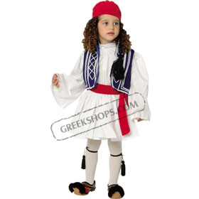 Tsolias Traditional Greek Costume for Boys Size 2-6 Style 644202