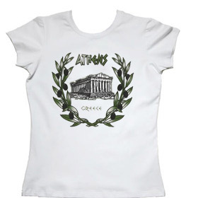 Olive Branches and Parthenon Womens Tshirt Style 10020b
